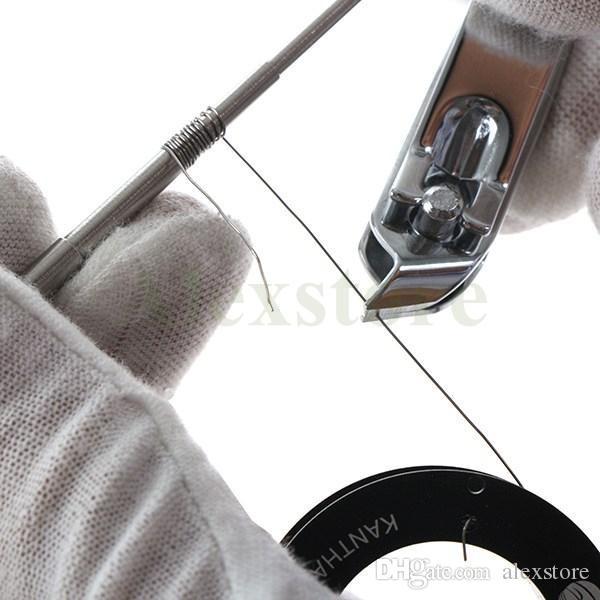 마이크로 코일 지그 물집 팩 미니 Gig 스테인레스 스틸 코일 도구 SS 포장 위크 코일 스크루 드라이버 DIY RDA RBA Atomizer