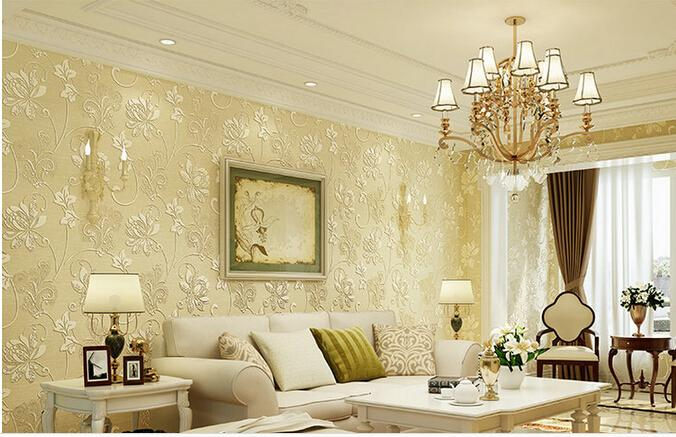 Non woven 3d embossed wallpaper the new fashion modern for Latest 3d wallpaper for bedroom