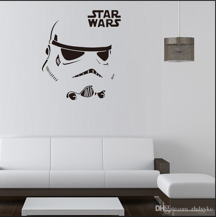 Newest Star Wars Stromtrooper Wall Stickers With Star Wars Character Letters  Wall Decal Fans Home Decor New In This Home Wall Decal Inexpensive Wall  Decals ... Part 56