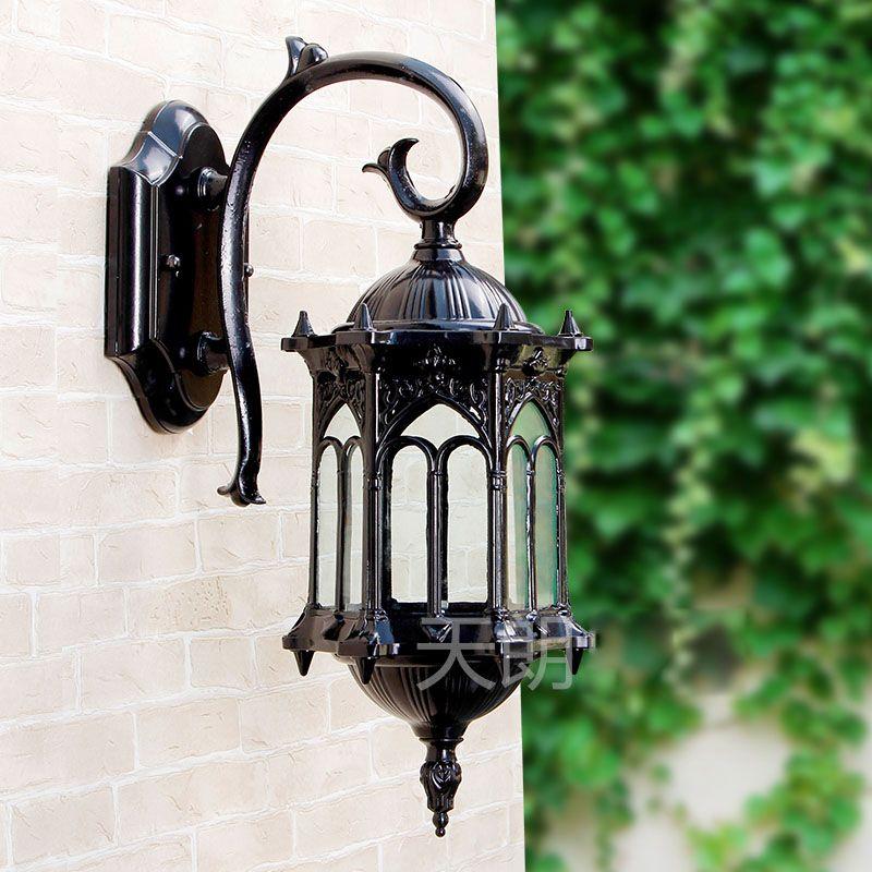 防水ヴィンテージ六角形吊り下げ屋外の壁のランプヨーロッパのヴィラの風景外壁ライト廊下の壁の燭台の据え付け品