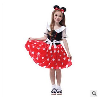 f43f66df7fa 2019 3 Sizes Mickey Minnie Mouse Girl Dress Kids Halloween Costumes Cosplay  Halloween Costume For Girls Mickey Mouse Cosplay Costumes M0632 From  Thankjay