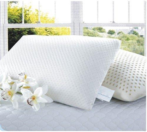 free shipping dunloppino velvet fabricty latex foam pillow 100latex pillows queen size