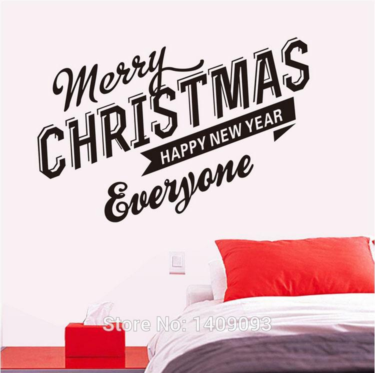 christmas decoration for home wall sticker quotes merry christmas happy new year vinyl quotes party decoration decals stickers for walls decals wall from