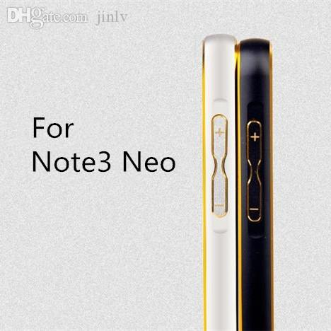 on sale 1fb98 eabad Wholesale-JZ Note3 Neo Lite metal Gold-Edge Aluminum bumper for Samsung  Galaxy Note 3 Neo N7505 ultra thin case luxury cover Free shippng