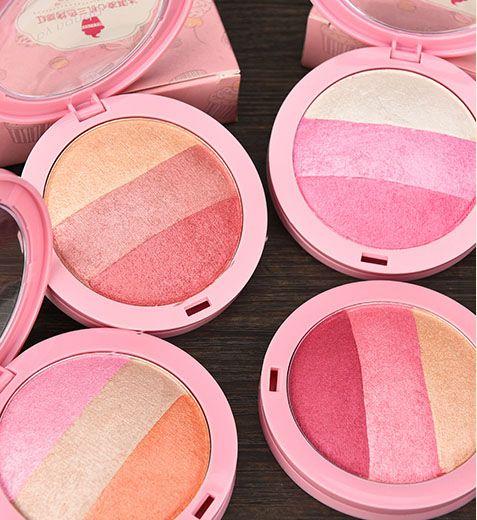 PRO Baked Maquiagem Paleta de 3 Cores Blush cozido assado blush highlighter brilho shimmer mineralize blush creme-como pó Makup kit blush