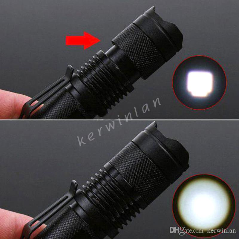 Linterna UltraFire CREE XML T6 LED 1600 lúmenes Mini linterna portátil Zoom 3 modos Luz de bicicleta de bicicleta impermeable con batería 18650 + cargador