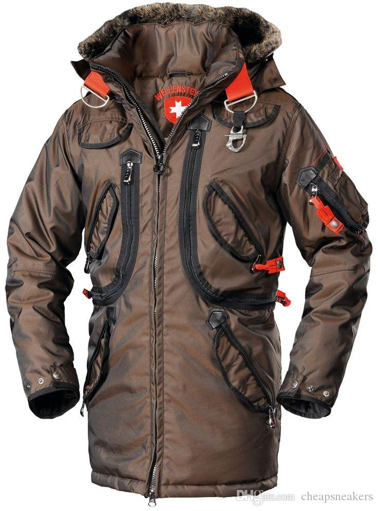 8619cbb8485a1 Čierna páperová pánska bunda na zimu Marvellous Wellensteyn s kapucňou