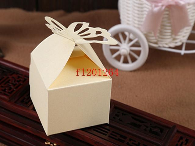 / Fedex DHL liberano il trasporto più nuovi che piegano la scatola di caramella di farfalla di DIY favorisce i contenitori di regali