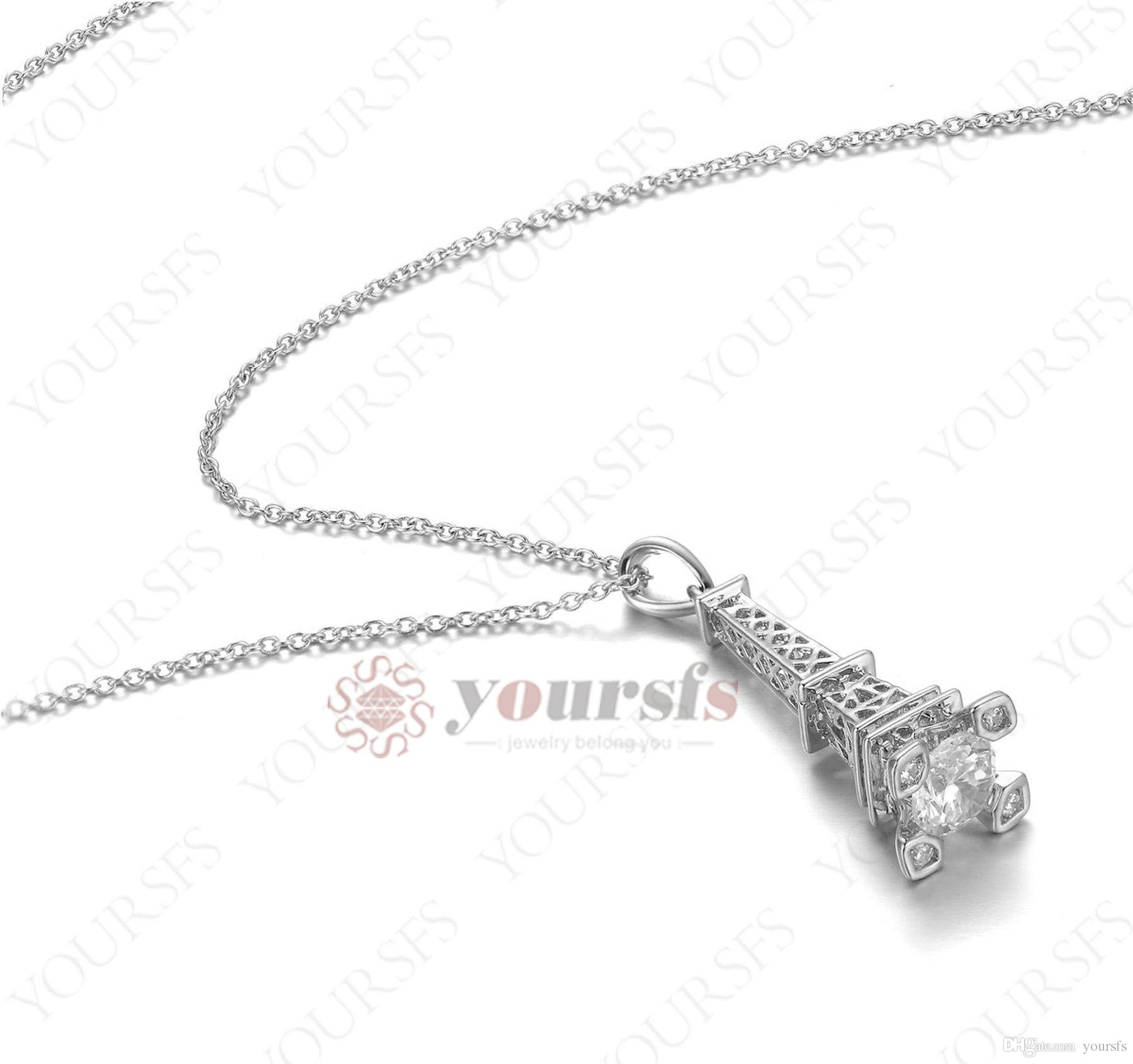 Wholesale yoursfs art works eiffel tower pendant necklace filling wholesale yoursfs art works eiffel tower pendant necklace filling clear austrian crystal 18k white gold and rose gold plated wedding for women jewelry rose aloadofball Image collections