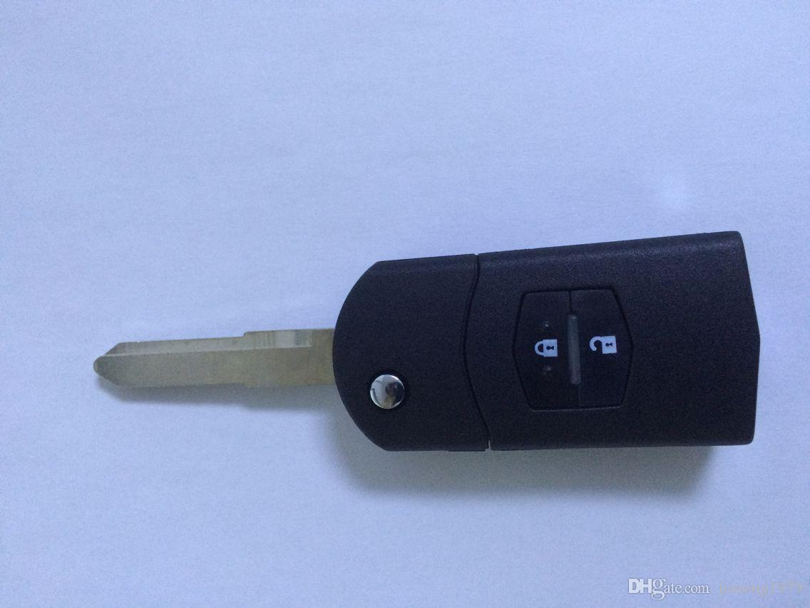 KL92 Blank Flip Folding Remote Key Shell Case For Mazda 3/6 2 Buttons High Quality