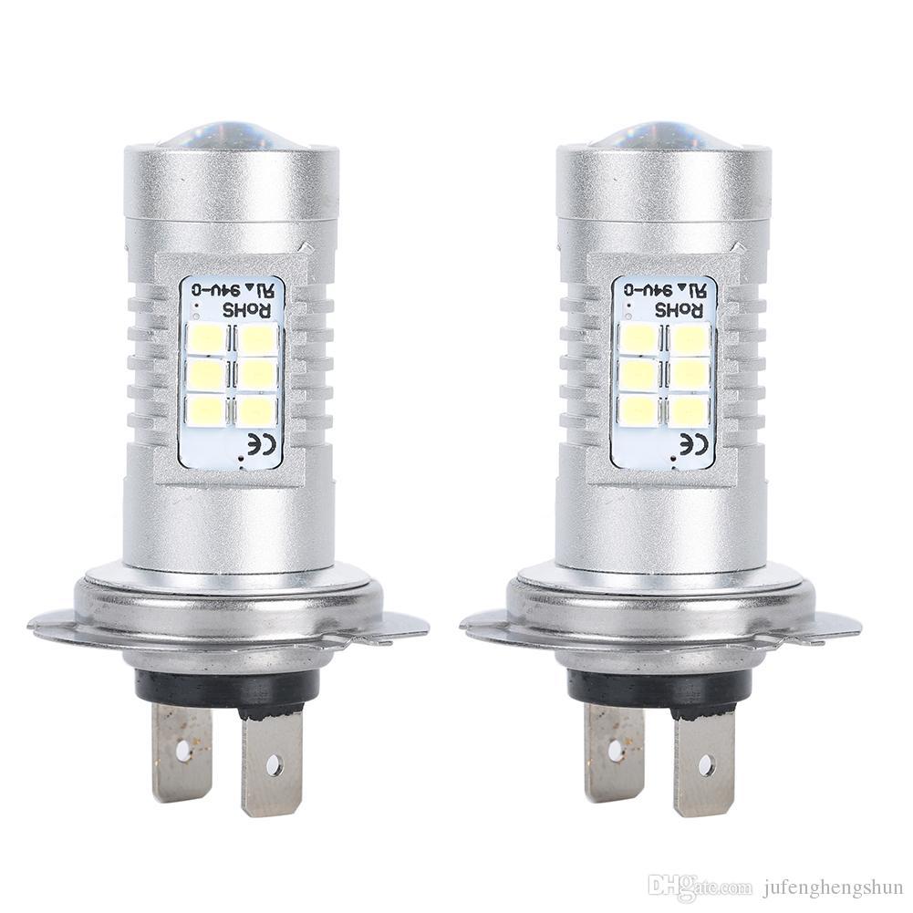 H7 21W LED Car Light Bulb 2835 Smd 12V 6500K White LED Bulb High Beam DRL Daytime Running Lights Universal LED Lamp