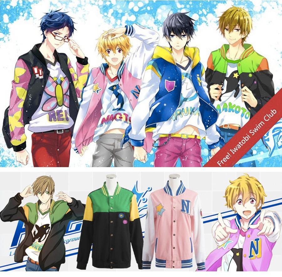 Maxdream anime free iwatobi swim club haruka nanase nagisa hazuki makoto tachibana rin matsuoka cosplay jacket coat dm1084 best anime costumes cosplay