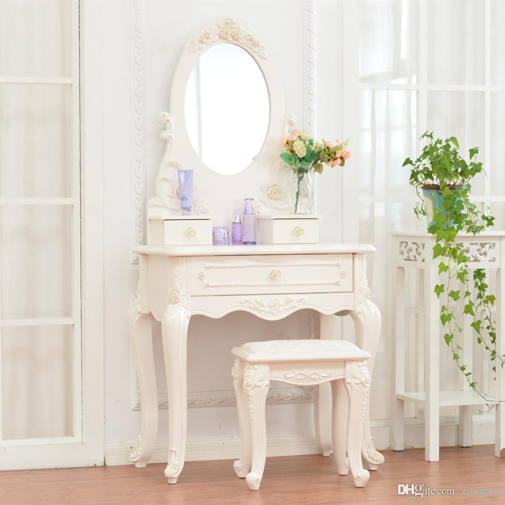 3drawers wooden mdf dressing table with mirror stool drawer from zongten 794 dhgatecom