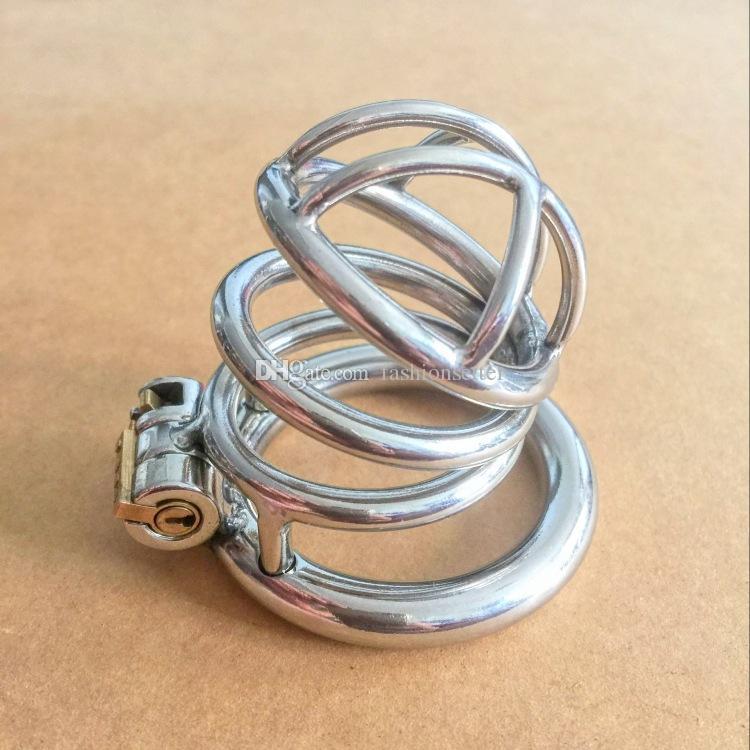 Nuovo arrivo castità gabbia castità cb in acciaio inox piccoli dispositivi di castità gli uomini