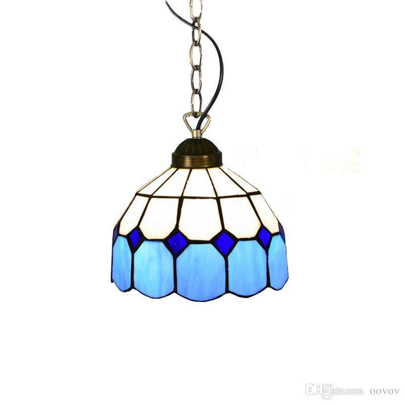Mediterranean Blue Tiffany Dining Room Pendant Lamp Fashion Cafe Bar  Pendant Lamps Balcony Hallway Hanging Light Dining Room Pendant Lamps  Tiffany Blue ...