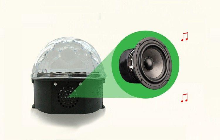 New LED Crystal Magic Ball Laser Stage Lighting 3W Sound Control Lights For Party Disco DJ Bar Bulb Mini LED Laser Lights