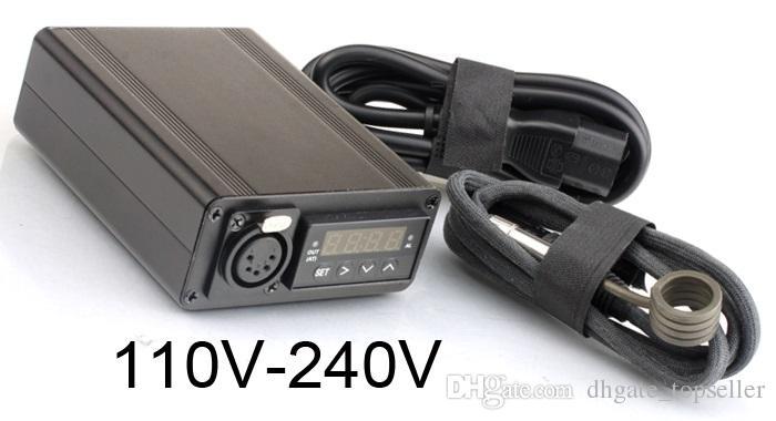 200cm Kabel E Nail Kit Digitale Heizspule 16 20 Elektronische DNail Dab Titan Nagelspule D Nagel WACHS Vaporizer Dry Dried Herbal