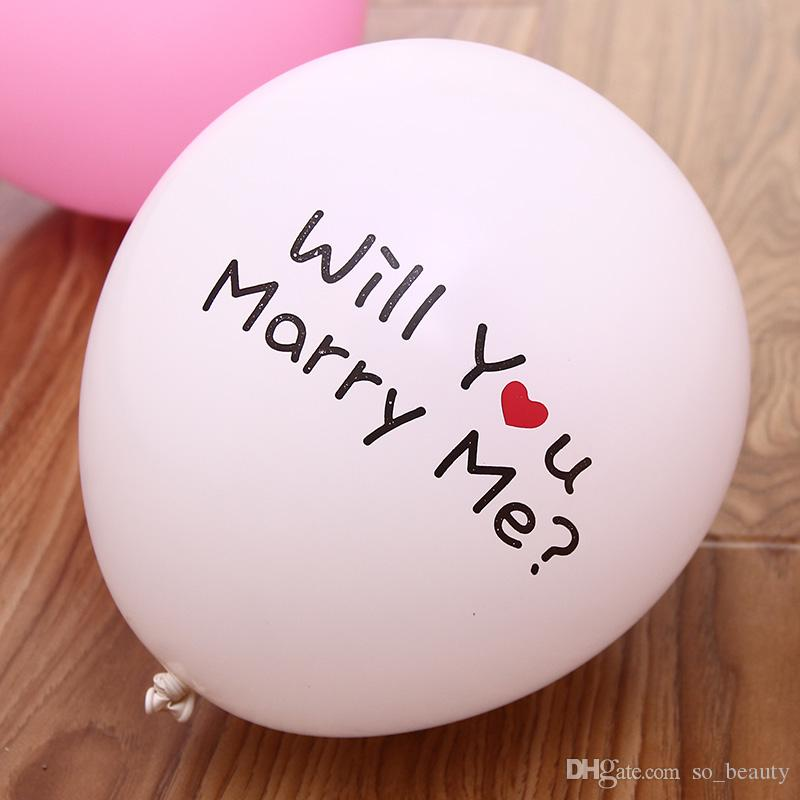 Latex Propose Marriage Balloons Round Balloon Party Wedding Happy Birthday Anniversary Decor 12 inch new