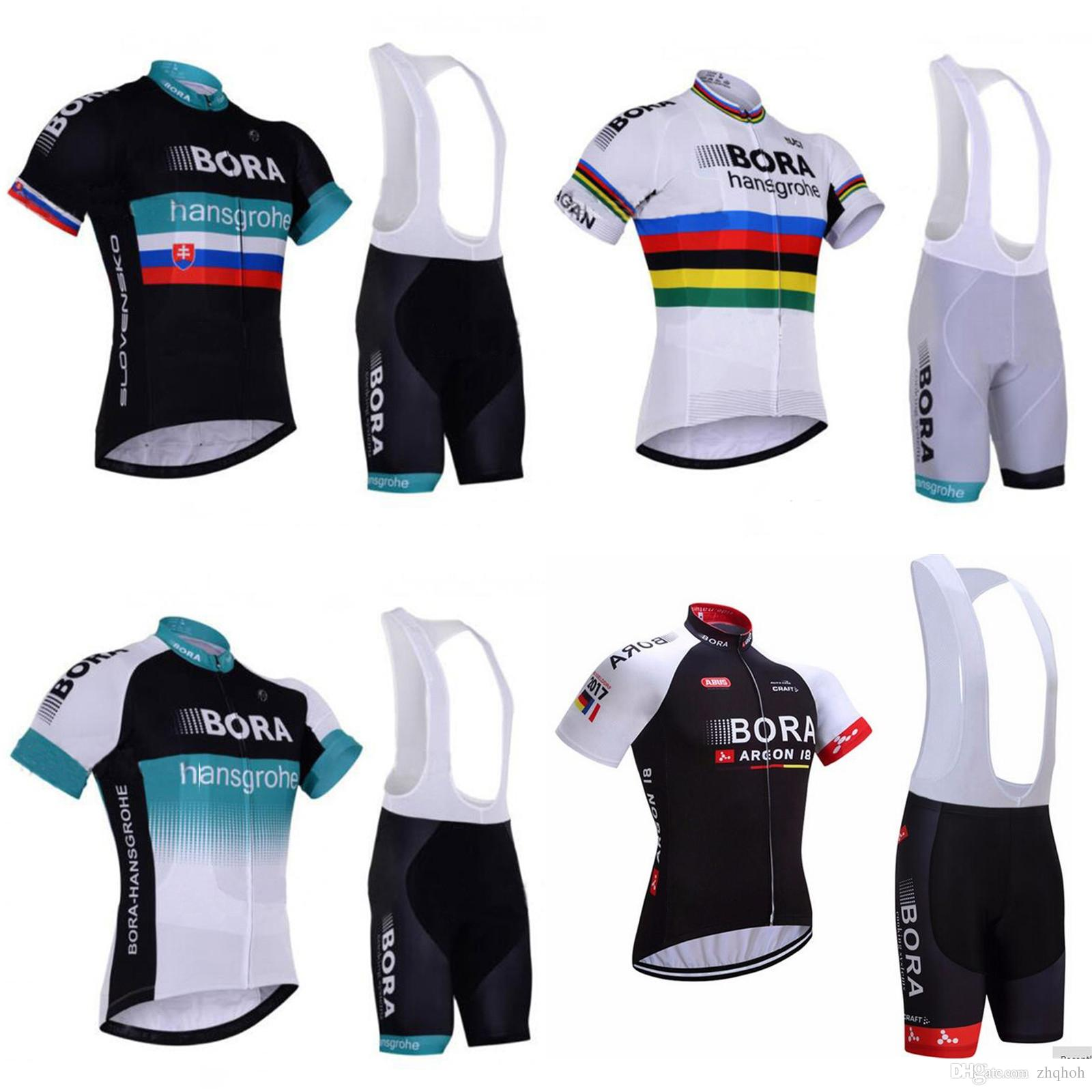 2017 Bora Hansgrohe Summer Cycling Jersey And Bib Shorts Kit Four Color  Cycling Team Jerseys Cycling Jersey Sale From Zhqhoh ca21fd4e5