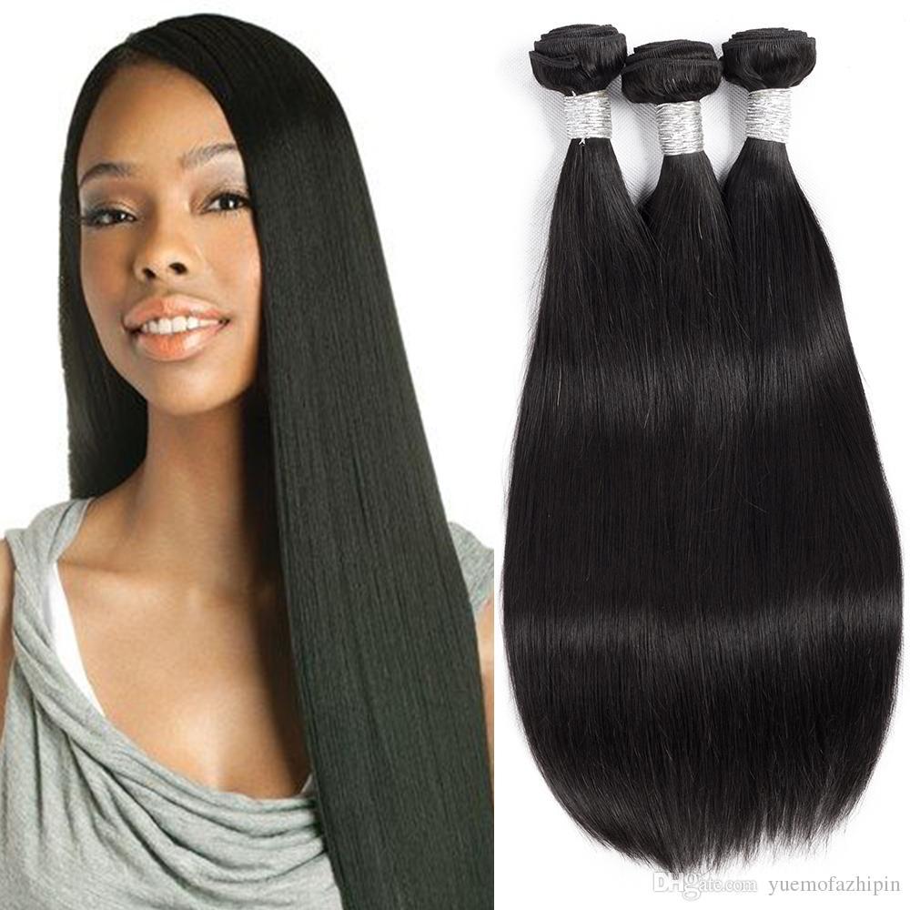 Grace Length 7a 4bundles Brazilian Virgin Straight Of Human Hair