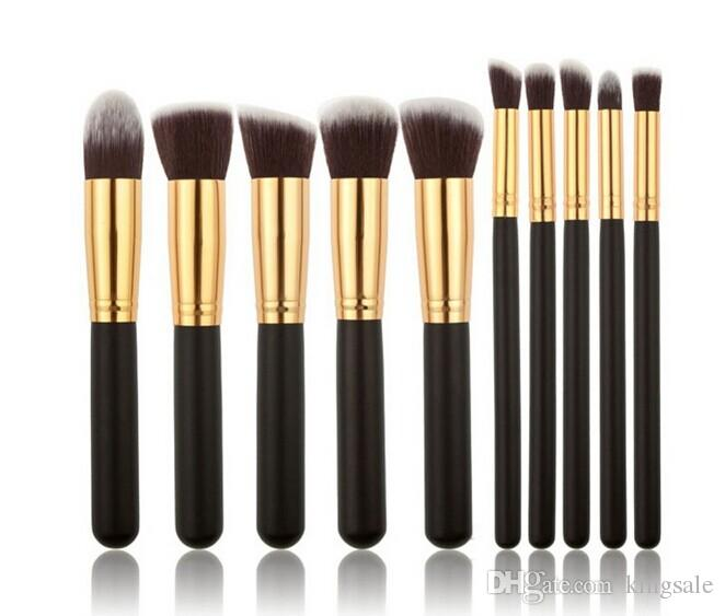 New Hot Kabuki Makeup Brushes Professional Cosmetic Brush Kit Nylon Hair Wood Handle top quality DHL free best christmas gift