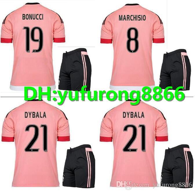 d64da9e99bc 2019 15 16 Juventus Soccer Jersey Kit 2015 2016 Juve 7 RONALDO 9 HIGUAIN 10  DYBALA 11 D. Costa 17 MANDZUKIC 1 BUFFON Football Shirt Uniforms From ...