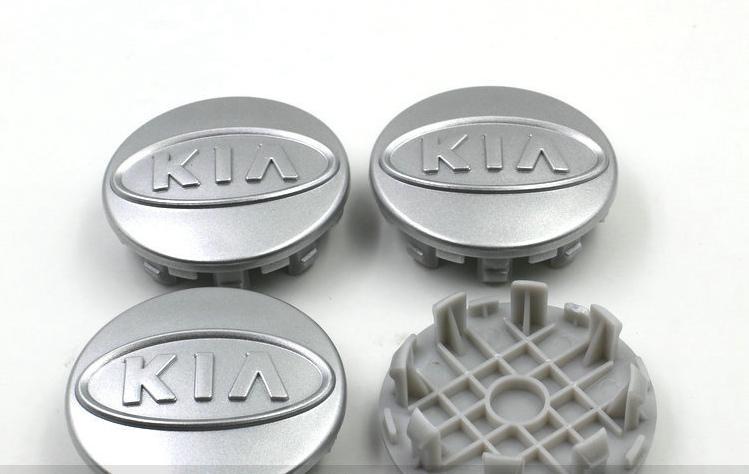 4 pz / lotto 59mm ABS argento cromato kia centro della ruota tappi coprimozzo auto distintivo emblema Cerato K2 K3 K5 SOED OPTIMA SOUL SORENTO