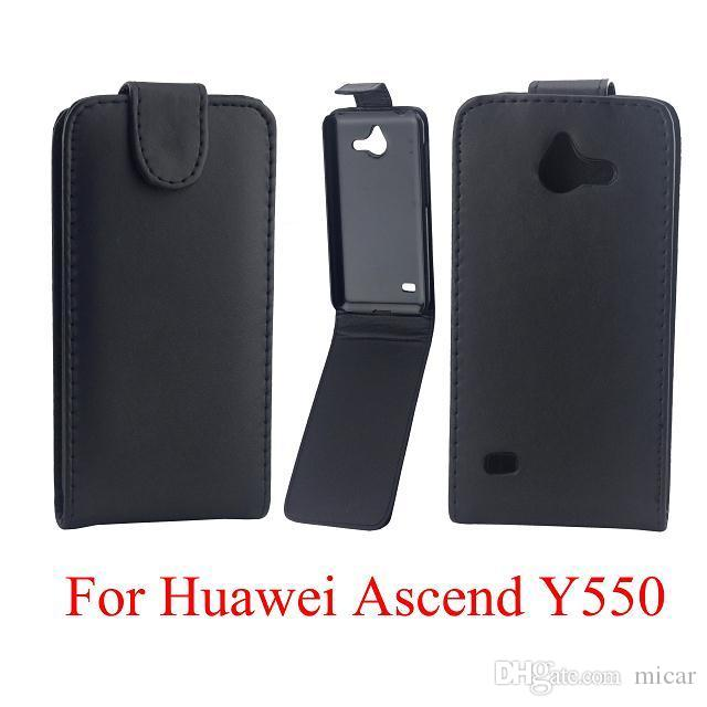 Luxury Black Vertical Up and Down PU Leather Case For Huawei Y6 Y560 Y300 Y330 G510 P8 P8lite Y360 Mobile Phone Bags Case