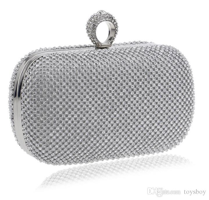 e47574a41cc Evening Clutch Bags Diamond-Studded Evening Bag With Chain Shoulder ...