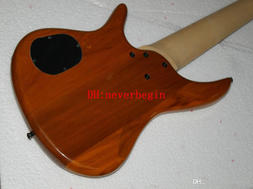 Nuevo Custom 7 cuerdas Bajo eléctrico de madera Bajo de alta calidad de madera