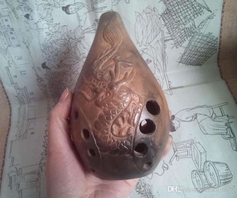 Tom F cheio de Xun Ocarina antigo instrumento de música flauta boa som presente F direito