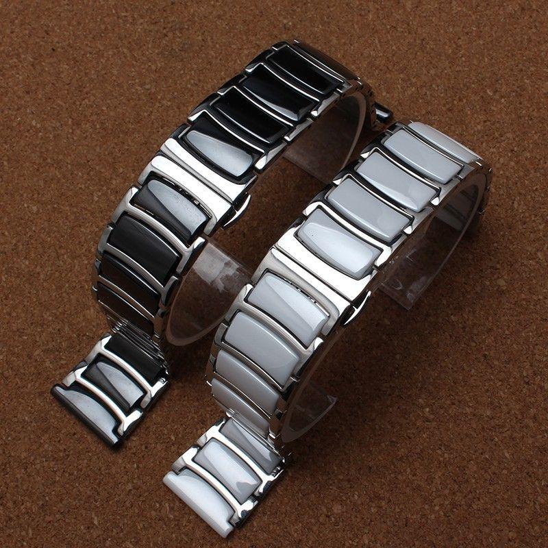 Nouveau style de mode en métal avec bracelet en céramique bracelet bracelet femmes hommes montre accessoires 20mm 22mm pour diamant ou smart-watch mode chaud