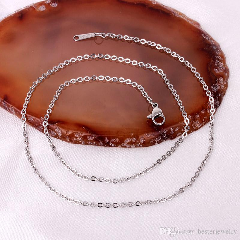 Fashion Steel/gold/rose gold O chain delicate 316L stainless steel 1.9mm wide 45cm length for women girls