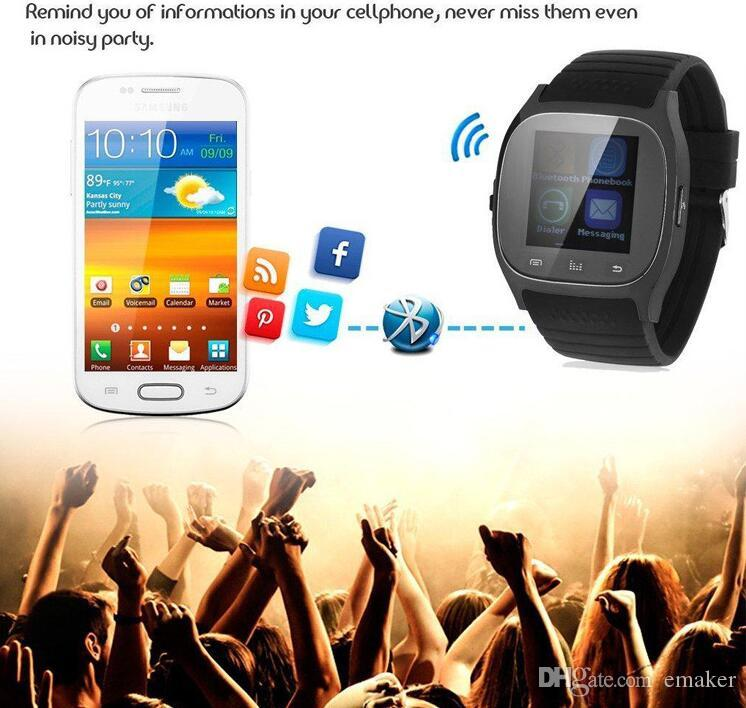 2016 Bluetooth Smart Watches M26 for iPhone 6/6S Samsung S5/S4/Note 3 HTC Android Phone Smartwatch for Men Women DHL Free Ship