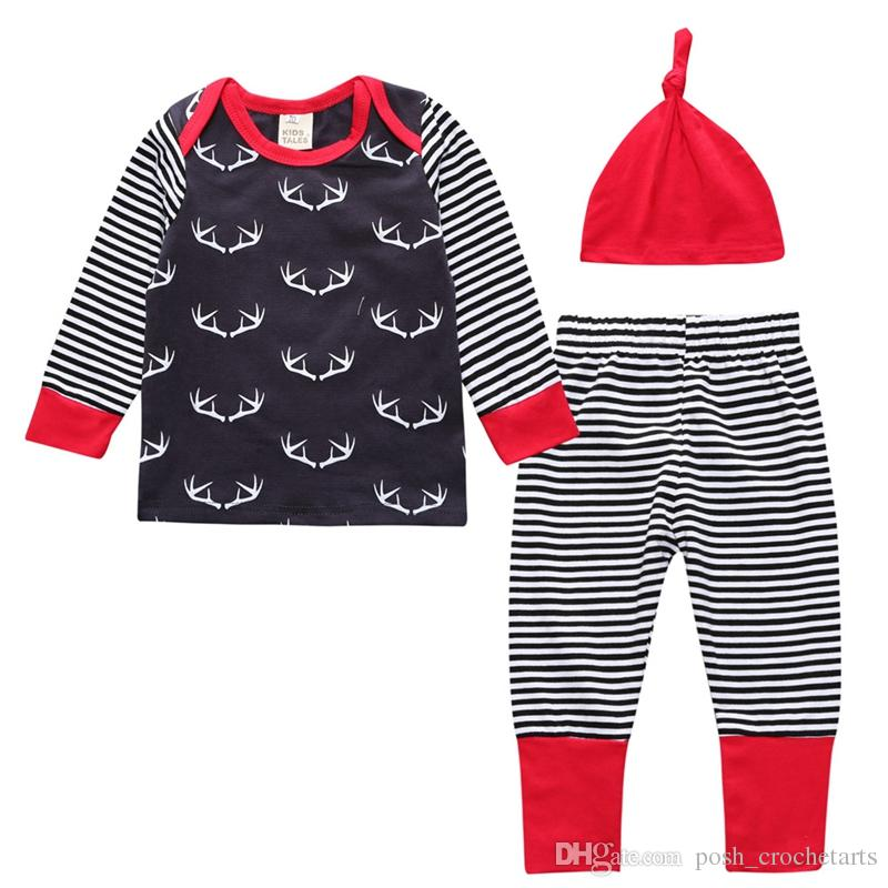 586a5d69cf 2019 Baby Outfits Boy Reindeer Prints Baby Christmas Outfits For 2017  Cotton Cute Infants Clothes For Newborn Gift Quality Baby Clothing Sets  From ...