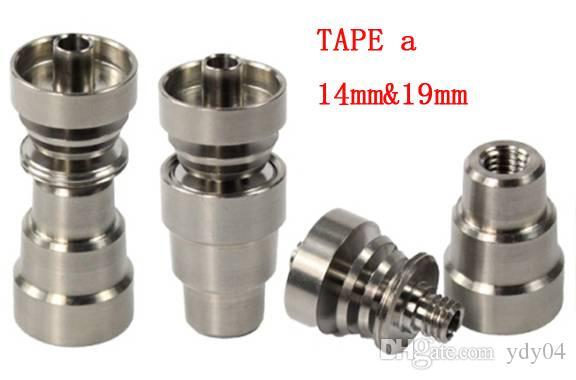 범용 enail 티타늄 네일 10mm14mm18mm IN 2 1, 4 1 IN은 어댑터 공동 오일 6 인치 1 glassbong 티탄 손톱 릭