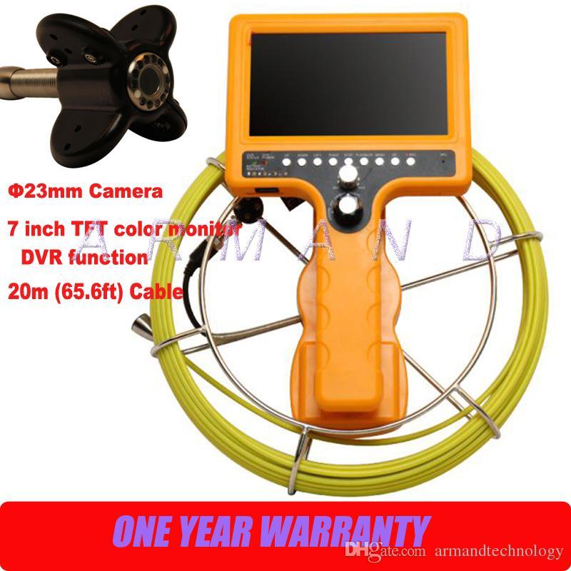Sistema di telecamere portatili con tubo di scarico impermeabile DVR Industriale Scheda SD da 8 GB Scheda video Endoscopio Video ispezione 710DN-SCJ