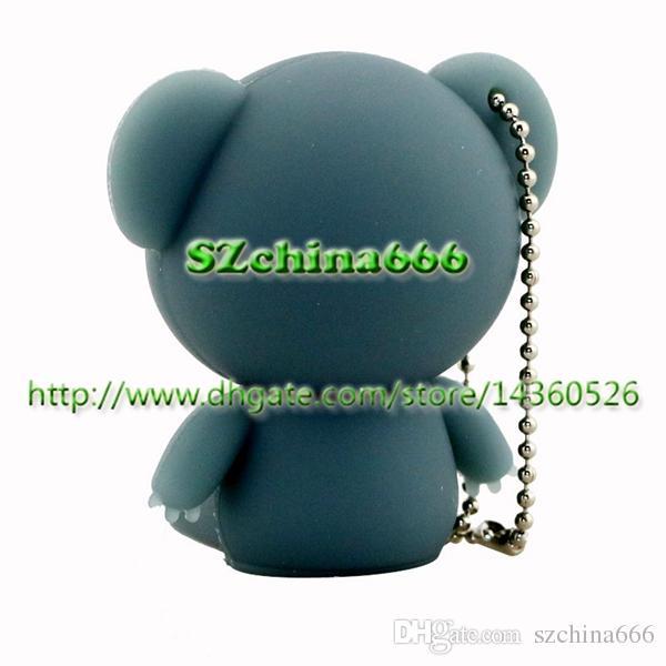 Cute Koala USB Flash Stick 8GB Animal Silicone USB 2.0 Flash Drive Real 1GB 2GB 4GB 16GB Cartoon Pendrive