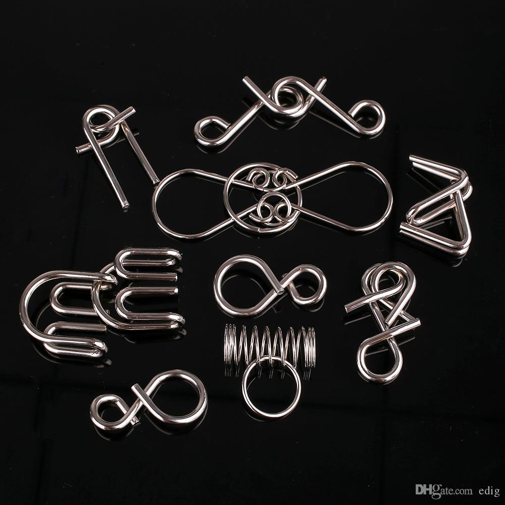 Série Anéis Metal Wire enigma Magia Mind Game IQ Test Adultos Criança Brinquedo de Cardano Crianças
