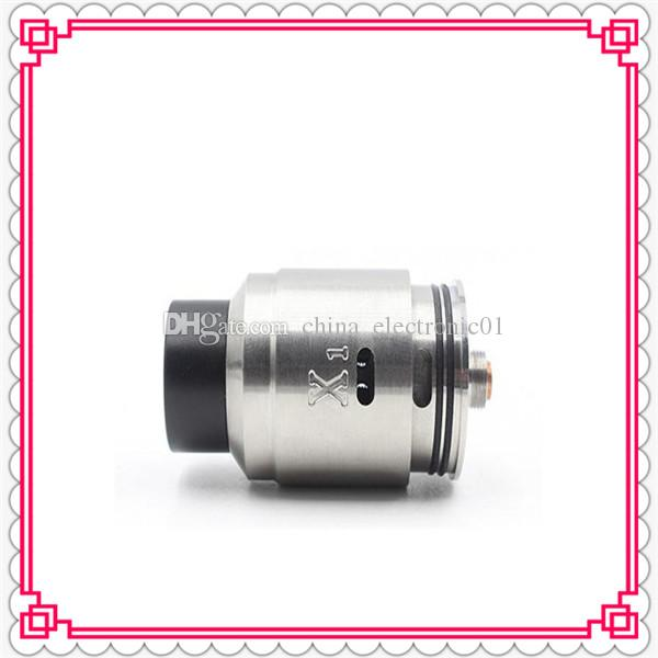 Clone X1 Vaperz Cloud RDA Rebuildable Atomizer 304 SS 24mm diameter PEEK Insulators Adjustable Airflow fit 510 Mechanical Mods