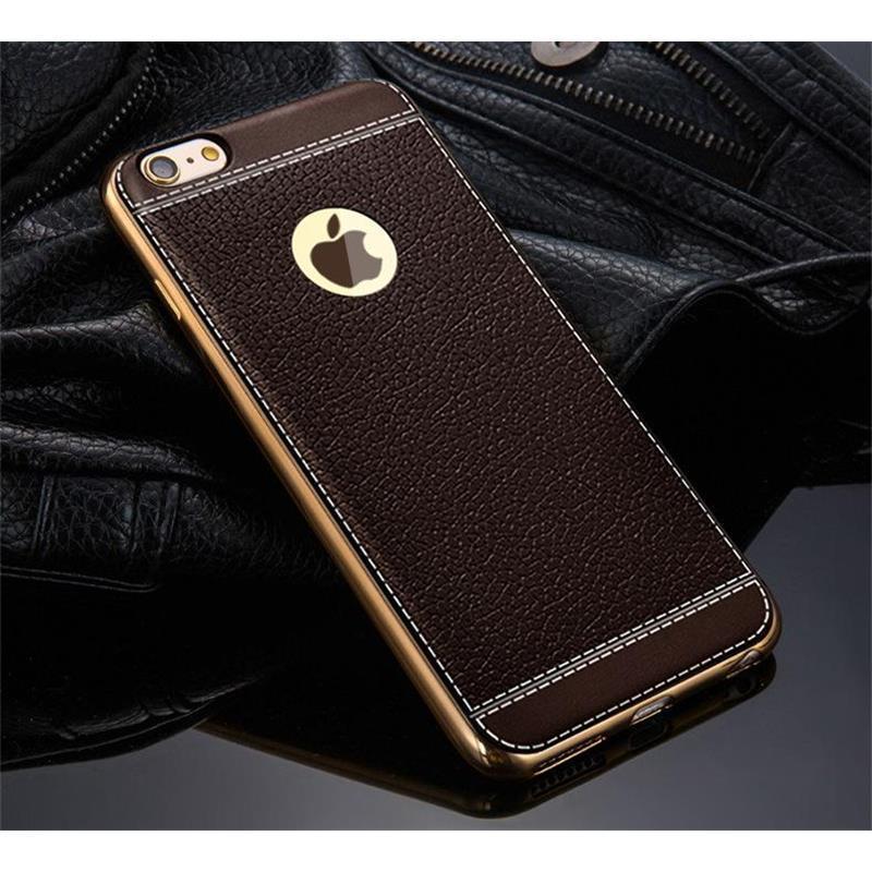 Coque Pour Telephone Portable Luxe Ultra Mince Galvanoplastie Souple Tpu Pu  Housse En Cuir Pour Iphone7   7 Plus Iphone6 6s Plus 5s Se Coque De  Téléphone ... 0d1ff50e773