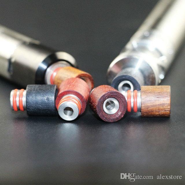 Best Drip Tips in legno 510 Red Wood Bocchino in acciaio inox SS Drip Tip Fit Box Mod Atoimzers E cigs Serbatoi RDA Atomizzatore Vapor