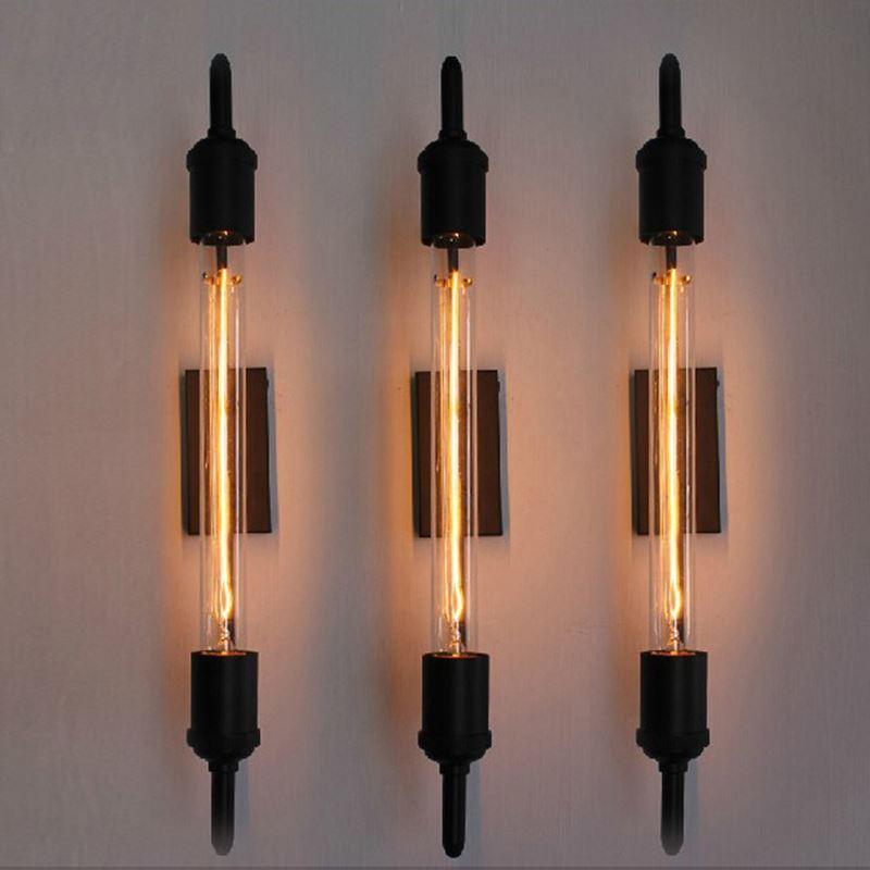 Best Vintage Steam Pipe Retro Black Metal Wall Lamp For Bathroom ...