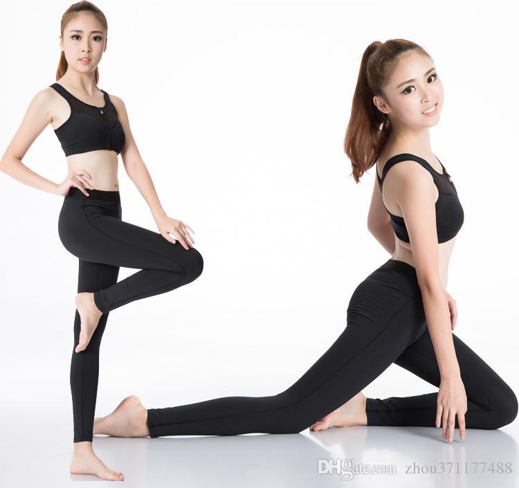 2016 novo movimento marca sexo cintura alta esticada calças esportivas  roupas de ginástica spandex correndo collants mulheres esportes leggings de  fitness ... aee818c78c080
