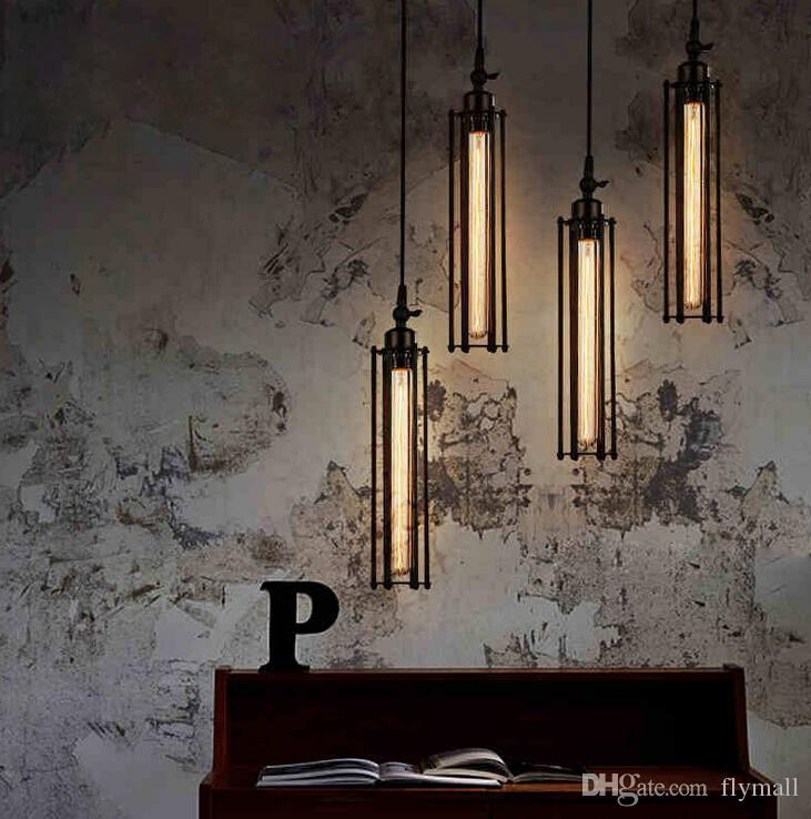 Edison Vintage Pendant Lamp Loft Wrought Iron Chandeliers Dining room Retro Flute Hanging Lamp European Indoor Lighting Fixture 110V-240V