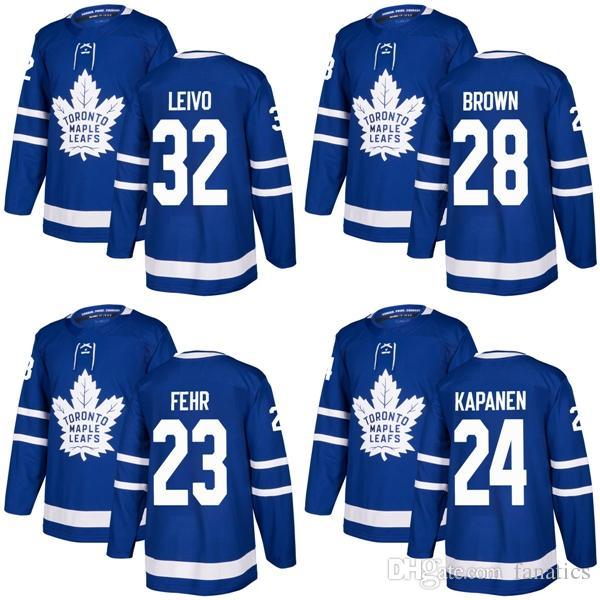 69eb3b2f21f 2018 2017 New Brand Mens Maple Leafs 32 Josh Leivo 28 Connor Brown ...
