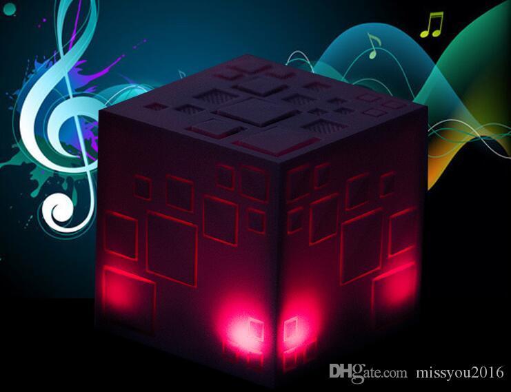 Creative Mains Libres Recevez des haut-parleurs sans fil Bluetooth Magic Cube Carte mini acoustique Système audio portable Son subwoofer Livraison gratuite