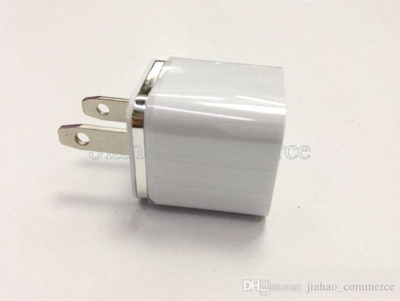 Carregador de Parede de alta Qualidade 5 V 1A EUA Plug AC Power Adapter Parede de Viagem Para Casa única porta USB Carregador Para Telefone Inteligente, telefone Móvel, colorido