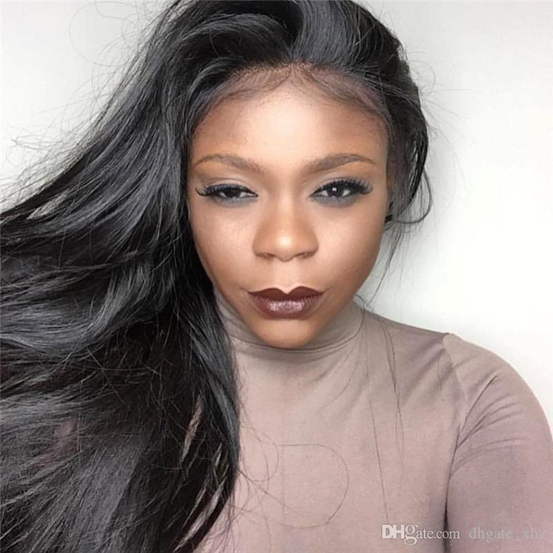 Virgin Brazilian Silk Top Full Lace Wigs Unprocessed Remy Human Hair Lace Front Wig With Silk Base For Black Women