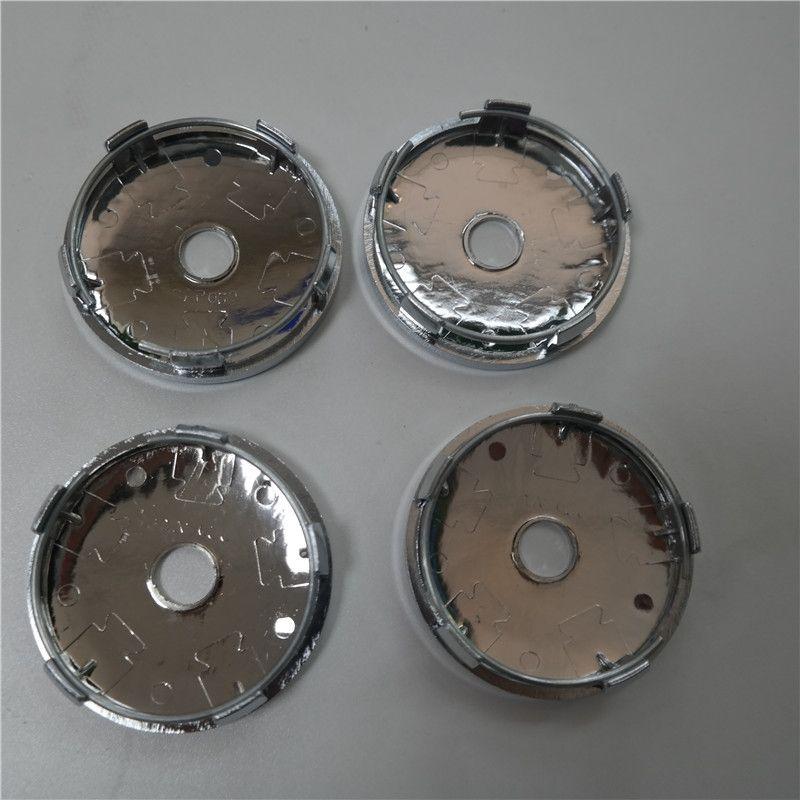 مجموعة من 4 قطع 60 ملليمتر كروم فارغة سيارة عجلة مركز محور قبعات مركز حبة غطاء أغطية